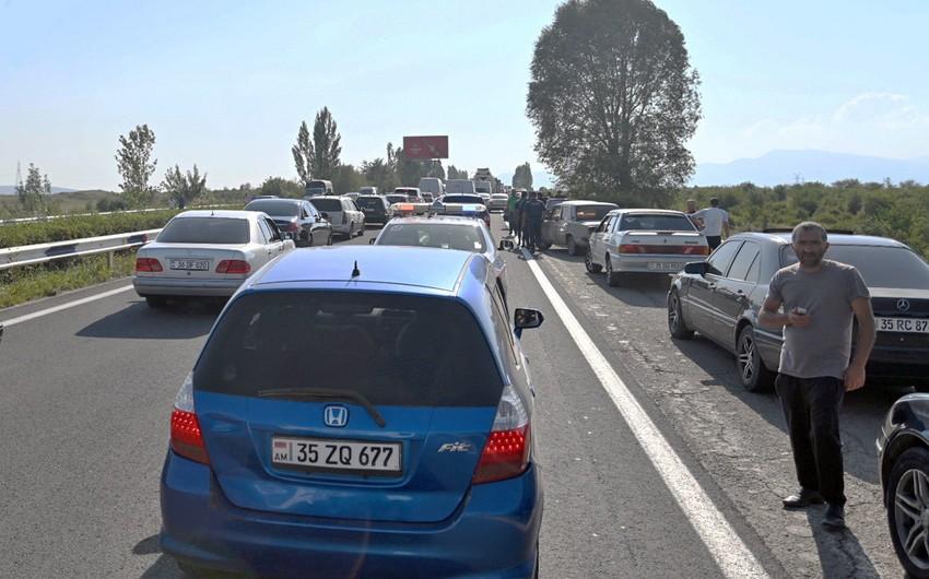 Ermənistanda kəndlilər etiraz aksiyası keçirib