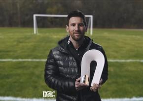 Messi xeyriyyəçiliyinə görə İlin dünya çempionu mükafatını aldı
