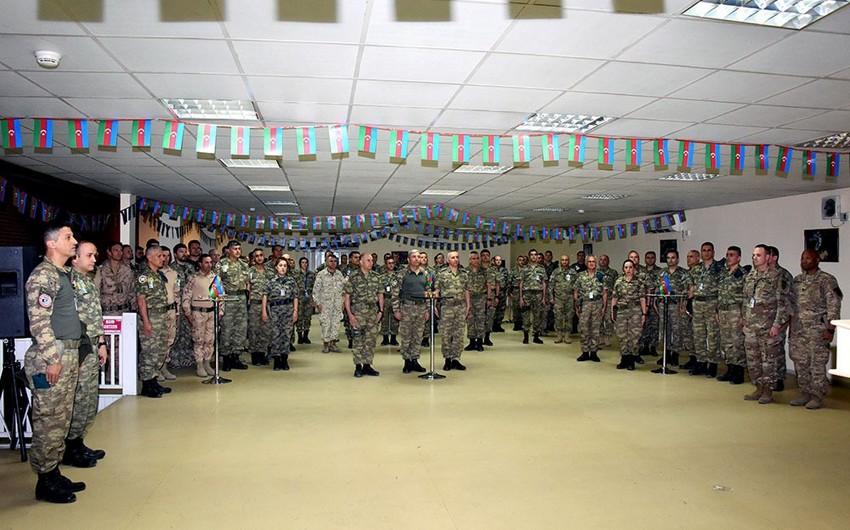 Peacekeepers of Azerbaijan in Afghanistan celebrate Republic Day