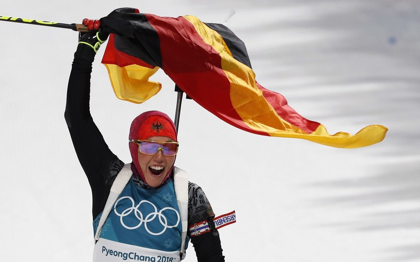 Almaniya Qış Olimpiadasında qızıl medal sayına görə Kanadanın rekordunu təkrarlayıb