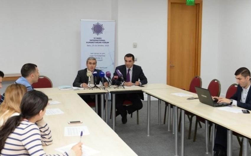 На VI Бакинском международном гуманитарном форуме примут участие 581 человек из 97 стран и 24 международные организации
