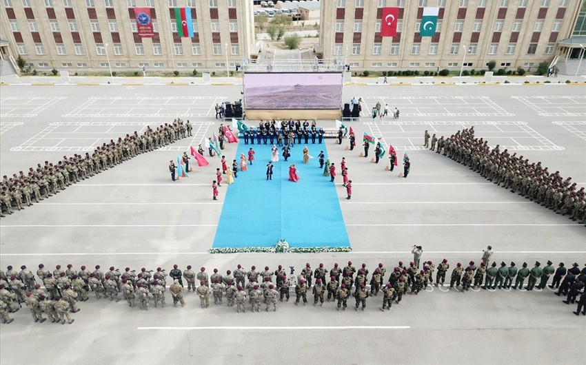 Footage from opening of Azerbaijan, Turkey, Pakistan special forces' exercises