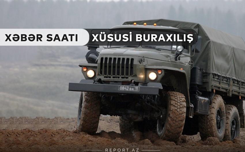 """""""Xəbər Saatı"""": Ordumuz hərbi texnika və silah-sursat ələ keçirib"""