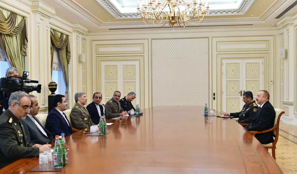 Prezident İlham Əliyev: Azərbaycanla İran arasında hərbi və hərbi-texniki sahədə münasibətlər uğurla inkişaf edir