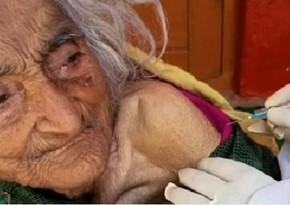 Dünyada ən yaşlı qadın vaksinləmə zamanı aşkarlanıb