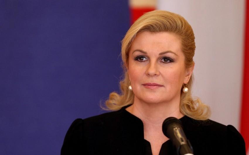 Xorvatiya Prezidenti Azərbaycan Xalça Muzeyində olub