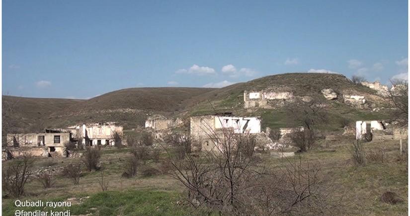 Видеокадры из села Эфендиляр Губадлинского района