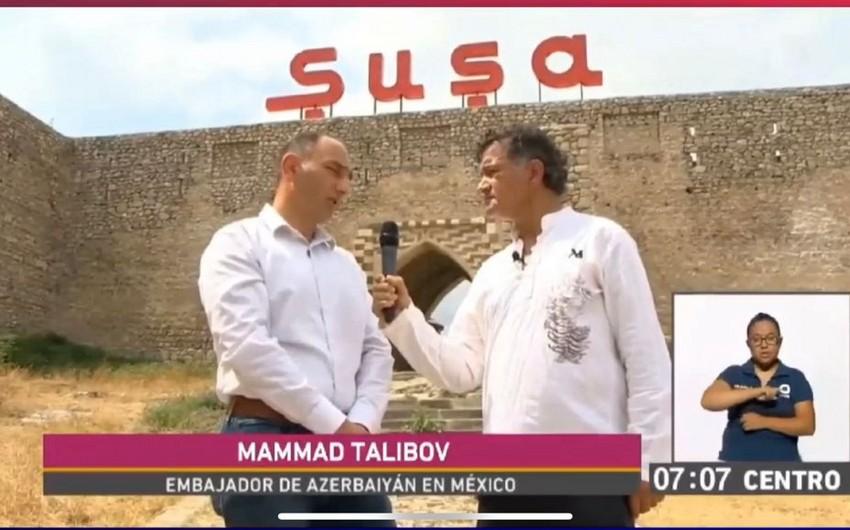 Репортаж о Шуше показали по мексиканскому телевидению