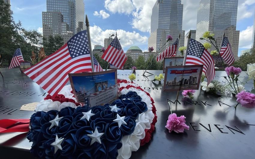 Nyu-Yorkda 11 sentyabr terror aktları qurbanlarının anım mərasimindən - FOTOREPORTAJ