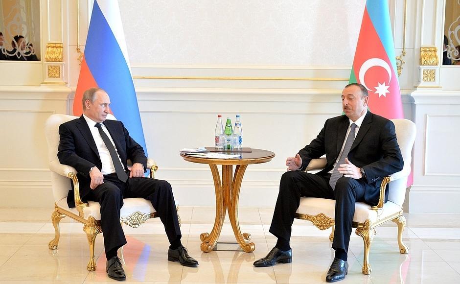 Президент Ильхам Алиев: Отношения между Россией и Азербайджаном развиваются очень позитивно и динамично