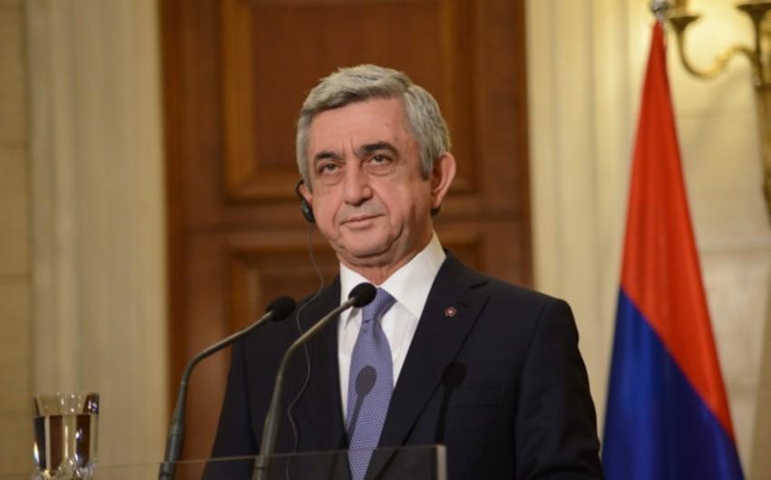 Ermənistan prezidenti Qarabağda sülhməramlıların yerləşdirilməsi ideyasını dəstəkləyib