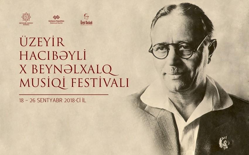 Üzeyir Hacıbəyli X Beynəlxalq Musiqi Festivalının proqramı açıqlanıb