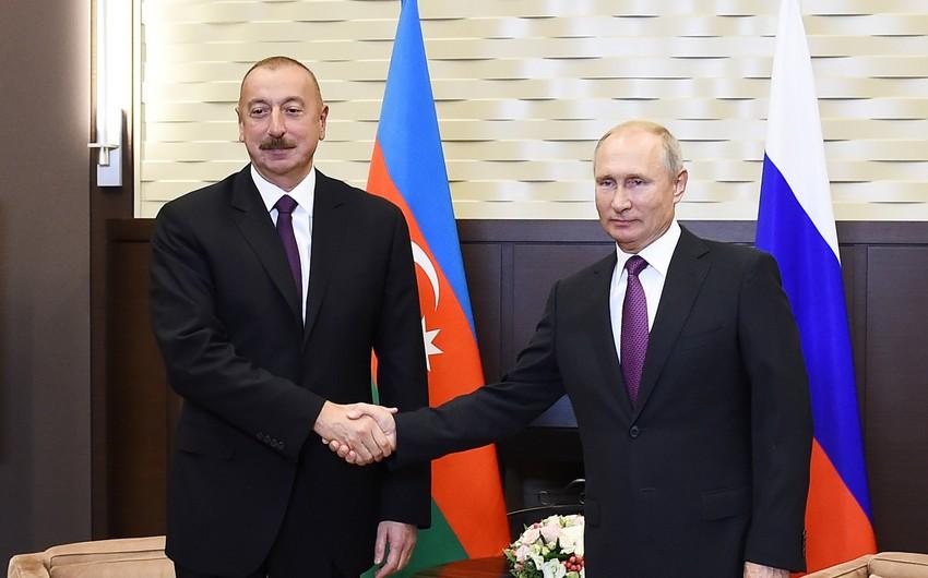 Vladimir Putin congratulates Ilham Aliyev