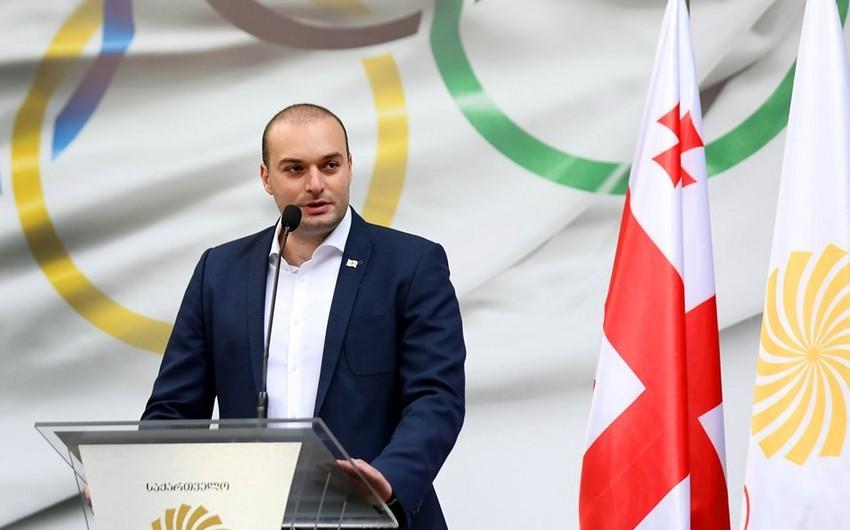 """Gürcüstanın baş naziri """"Bakı-2019""""da iştirak edəcək idmançılarla görüşüb"""