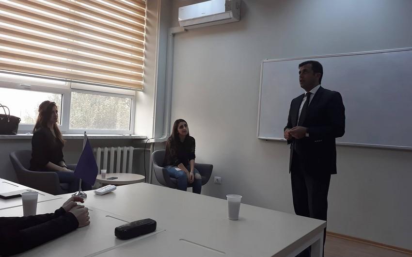 Baş redaktor BDU-da mühazirə keçib