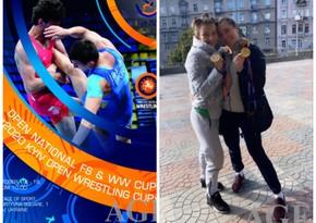 Azərbaycan güləşçiləri Ukraynada qızıl və bürünc medal qazandı