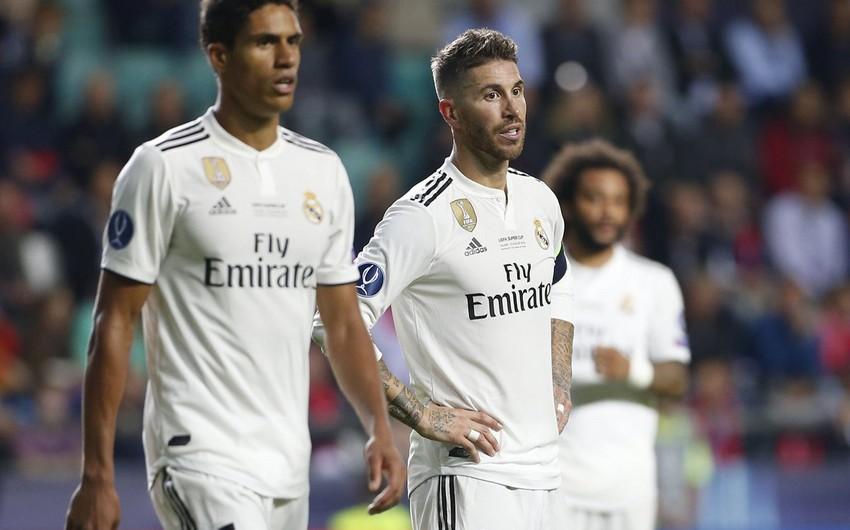 Real Madridin əsas müdafiəçiləri İnterlə matçı buraxa bilər