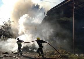 МЧС: В результате артобстрела Дашкесана вспыхнул пожар в лесном массиве