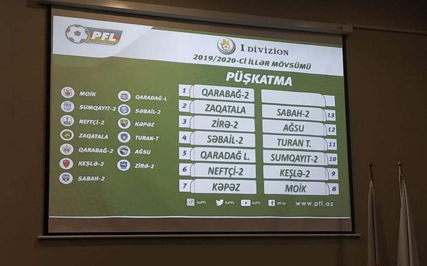 Состоялась жеребьевка I дивизиона Азербайджана по футболу сезона 2019/2020