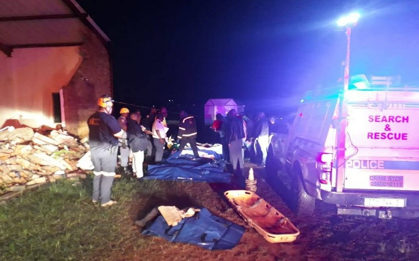 13 killed in South African church collapse as heavy storms hit province