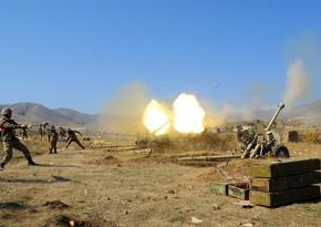 Azerbaijan Army's artillery units strike firing points of Armenia