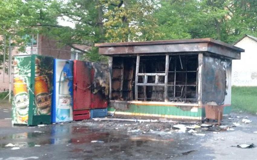 Goranboy rayonunda dəmir köşk yanıb