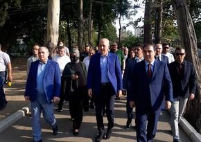 AKP nümayəndə heyətinin Gəncəyə səfəri başlayıb