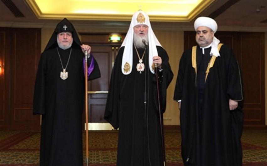 Moskvada Azərbaycan, Ermənistan və Rusiyanın dini liderlərinin görüşü baş tutacaq