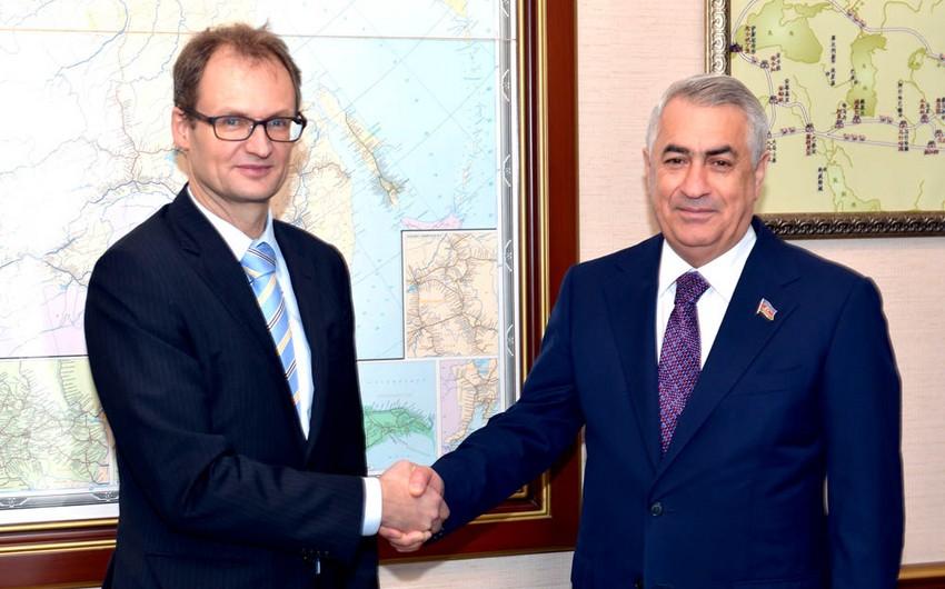 В ЗАО Азербайджанские железные дороги состоялась встреча с послом Швейцарии