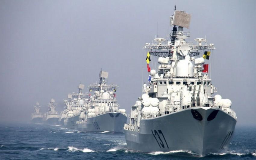 Çin Hərbi Dəniz Qüvvələri Cənub-Çin dənizində təlimlər keçirir