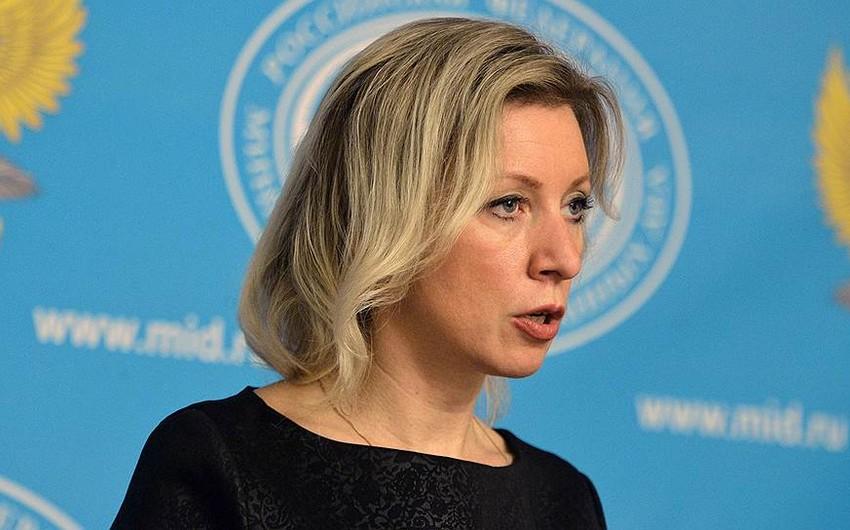 Mariya Zaxarova: Suriya böhranı üzrə Ankara-Moskva danışıqları konstruktiv şəkildə aparılır