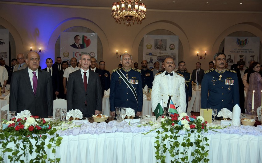 Azərbaycan Ordusunun 100 illik yubileyi Pakistanda təntənəli qeyd olunub