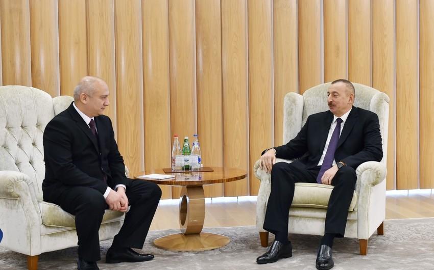 Президент Ильхам Алиев принял государственного советника президента Узбекистана