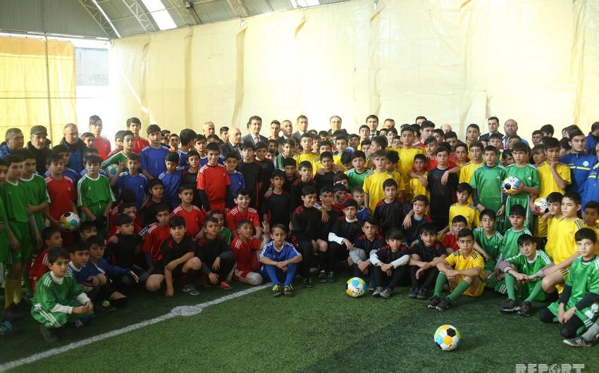 """Gəncədə """"Açıq Əyləncəli Futbol Məktəbi"""" açılıb - FOTO - VİDEO"""