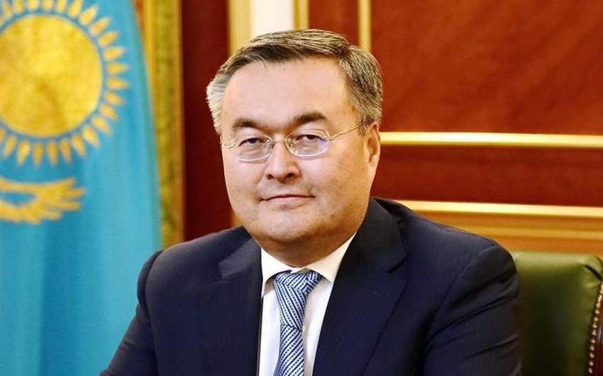 Qazaxıstanın xarici işlər naziri Azərbaycana gəlib