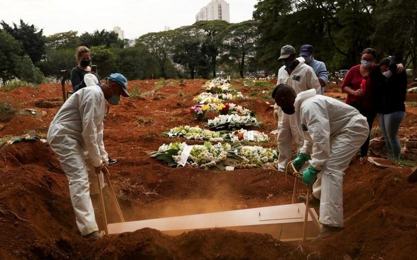 Braziliyada 40 mindən çox insan COVID-19-dan öldü