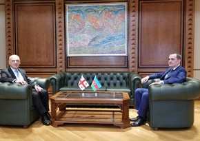 Jeyhun Bayramov holds one-on-one meeting with his Georgian counterpart