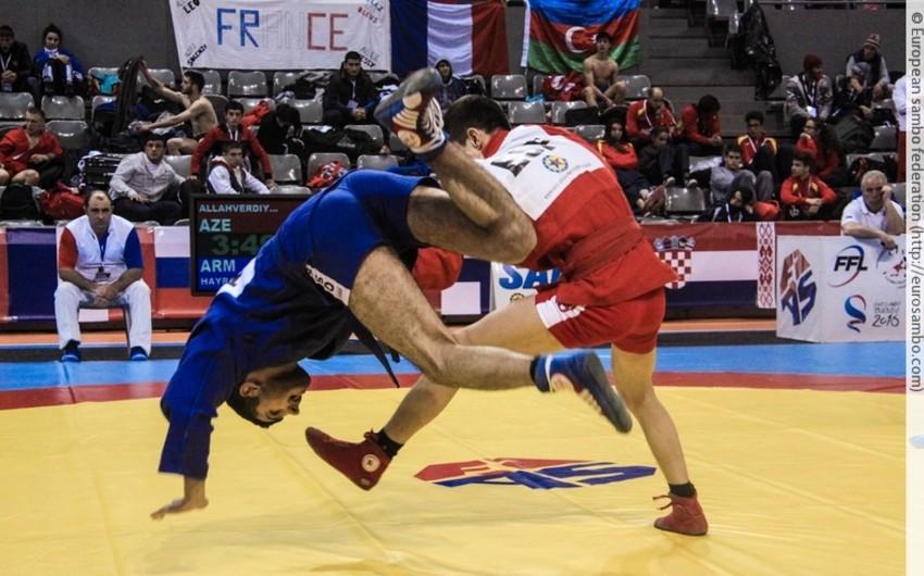 Azərbaycan samboçuları Avropa çempionatında 8 medal qazanıb