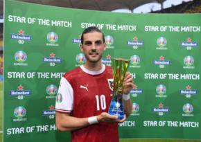 Евро-2020: Назван лучший игрок матча Украина-Австрия