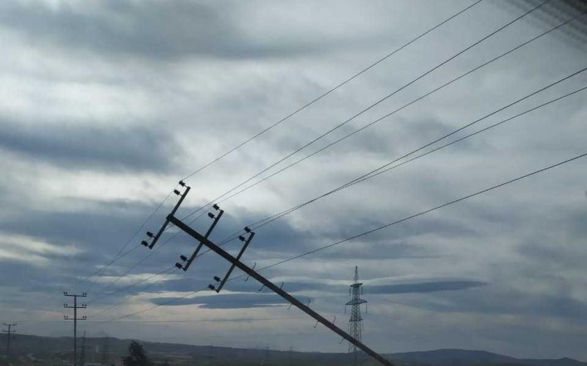 Azərbaycanın bəzi bölgələrində elektrik enerjisinin verilişi müvəqqəti dayandırılıb