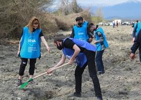 """В рамках """"Зеленого марафона в Балакене высажено 850 деревьев"""