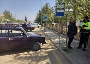 Biləsuvarda qayda pozan sürücülərə qarşı reyd keçirilib