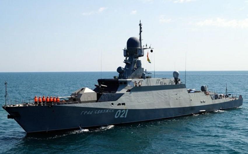 Azərbaycana məxsus 3 hərbi gəmi Mahaçqala limanına yaxınlaşıb
