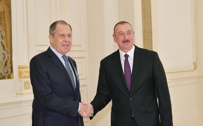 Lavrov: Vladimir Putin İlham Əliyevin strateji tərəfdaşlığımızı irəli aparmağa imkan verən şəxsi münasibətini yüksək qiymətləndirir