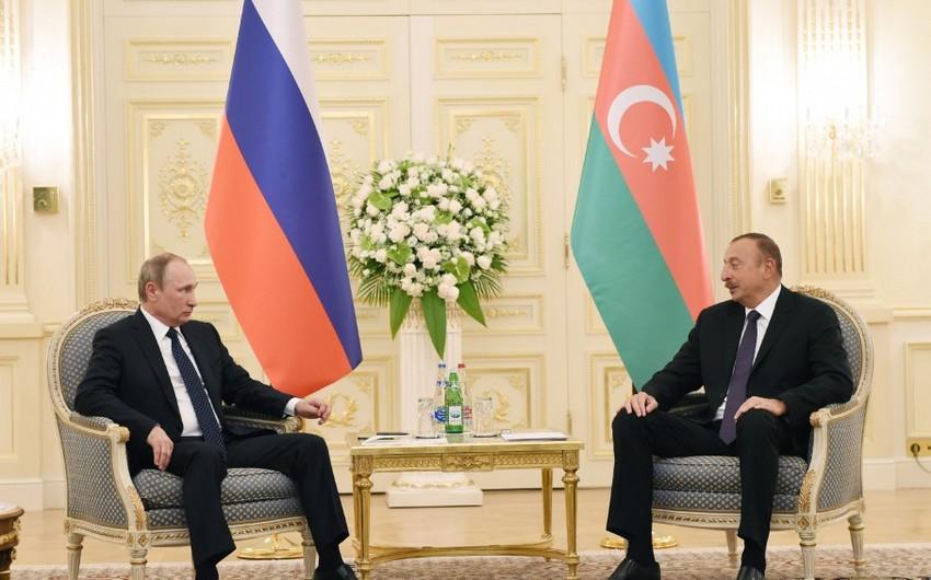 Состоялась встреча президентов Азербайджана и России