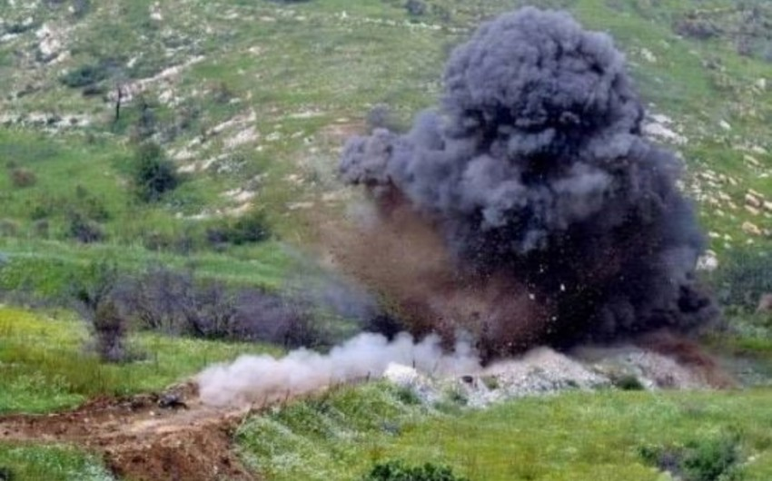 Tractor hit mine in Nagorno-Karabakh