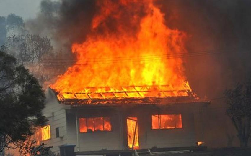 Tovuz rayonunda dördotaqlı ev yanıb