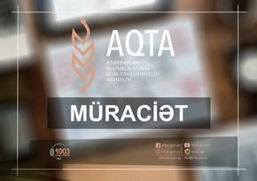 AQTA sahibkarlara və istehlakçılara müraciət etdi