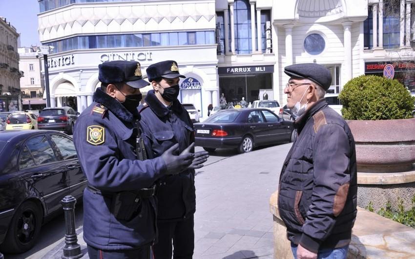 Bakıda polis bütün küçələrdə əhaliyə xəbərdarlıqlar edir