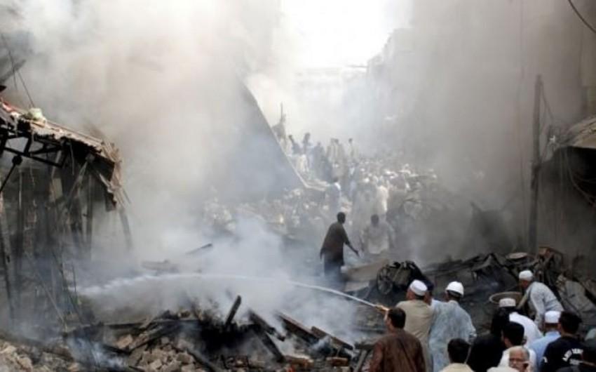 Pakistanda bazarda partlayış: 18 nəfər ölüb, 50-dən çox insan yaralanıb